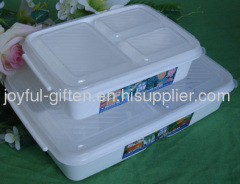 Rectangular plastic lunch boxes
