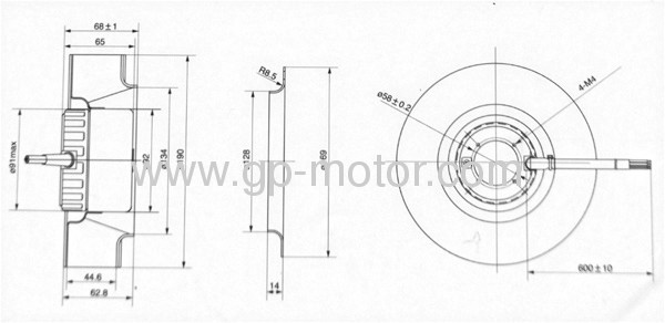 24v centrifugal fan with 0