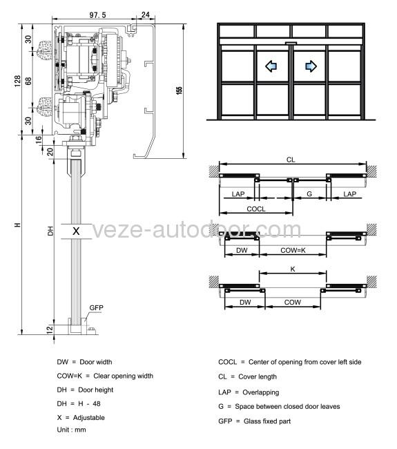 Automatic Sliding Door Head Detail Sliding Door Designs