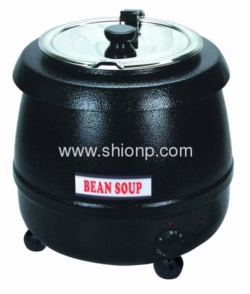 description of soup kettelsoup warmer for buffet steel with black powder coated capacity10l - Soup Warmer