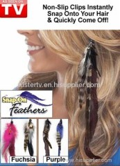 snap on feathers