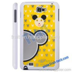 Mirror Cartoon Shining Backdrop Plastic Hard Case for Samsung Galaxy Note i9220(Yellow)