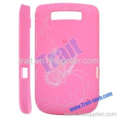 Frosted 3D Carving Butterfly Hard Case Cover for BlackBerry Torch 9800 (Pink)