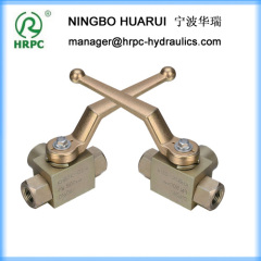 "3 way high pressure female /male 2"" threaded ball valve used for construction or agriculture"
