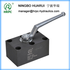 PKH hydraulic oil steel ball valve in manifold mounting type