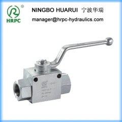 SAE 8 thread female port 2 way Industrial Valve with mounting holes