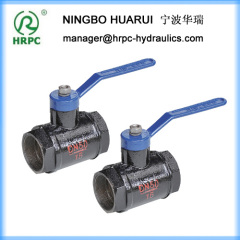 BSP 2'' female forged steel thread low pressure 1.6MPa ball valve