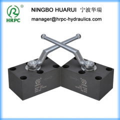 2-way manifold mounting type ball valve (6 top holes)