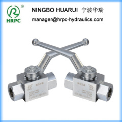 hydraulic male or female threaded high pressure 2 way carbon steel ball valve