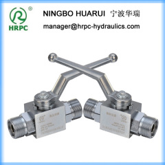 hydraulic 2way domestic standard 315bar high pressure globe stop ball valve