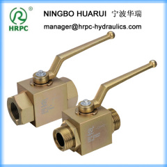 hydraulic system manual type female or male thread ball valves