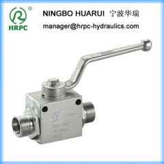 hydraulic pressure ball valve with mounting holes (good quality as HYDAC valve)