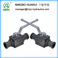 (MKH) 2-way flanged hydraulic stainless steel ball valves