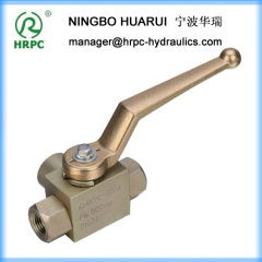 actuated yellow zinc plated carbon steel ball valve in female thread three way