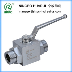 male thread connection 2 way carbon steel hydraulic globe valve / ball valve