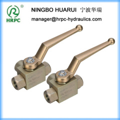 high pressure female threaded connection 3-way ball valve
