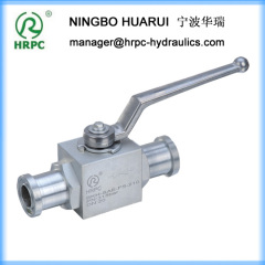 high pressure flanged china 2-way ball valve