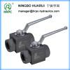 hydraulic systems manual thread ball valve in male-female