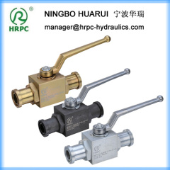 flanged SAE full bore hydraulic high pressure ball valve