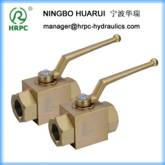 female thread BSP or NPT or PT high pressure ball valve