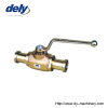 BKH-SAE-FS, MKH-SAE-FS 2 way carbon steel high pressure ball valve pipe connector