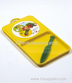 Kitchen Fruit Plastic Cutting Board Set