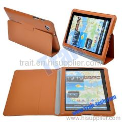 Deluxe Smart PU Cases Cover for Samsung Galaxy Tab P6800(Brown)