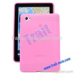 Classic Soft Silicone Case Cover for Samsung Galaxy Tab P6800(Pink)