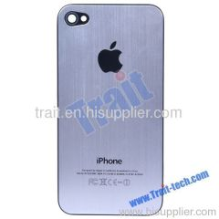 Metal Battery Back Cover Housing for iPhone 4 4G(Sliver)