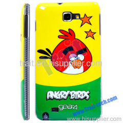 Cartoon Bird Pattern Design Protective Hard Case for Samsung Galaxy Note i9220 (Yellow)