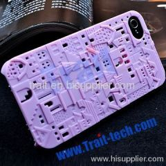 Avant-Garde Series Polycarbonate Structures Hard Case for iPhone 4S/iPhone 4 (Purple)