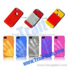 Fantastic Heat Discoloration PC Hard Case for iPhone 4/iPhone 4S
