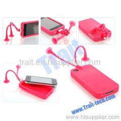 2012 New Golio/GUOGUO/Gampsocleis Inflata Uv Silicone Case for iPhone 4S/iPhone 4 (Red)