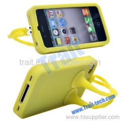 2012 New Golio/GUOGUO/Gampsocleis Inflata Uv Silicone Case for iPhone 4S/iPhone 4 (Yellow)
