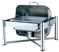 Half size roll top chafing dishes