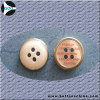 Plastic button with metal ring with Logo Button