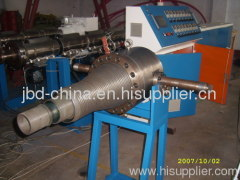 PVC double wall corrugated pipe production line