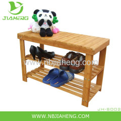 3 level bamboo shoe rack