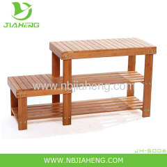 Folding Multifunctional Bamboo Shoe Rack