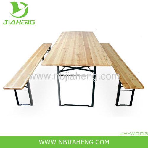 Folding beer table set
