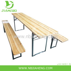 Square wooden beer table set