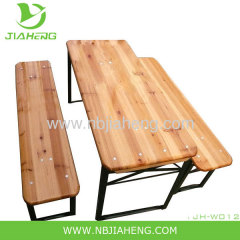 Children's Beer Garden Folding Wood Table and Bench Set