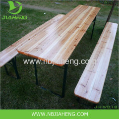 Pine Wooden Beertable and Bench