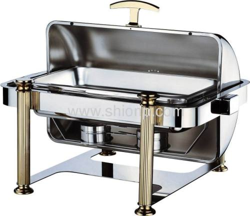 Oblong stack up chafing dish