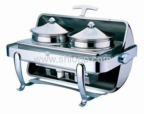 rectangular roll top soup stations