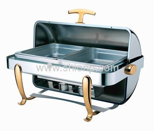 rectangular chafing dish roll top lid