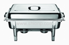 stainless steel economy rectangular chafing dish