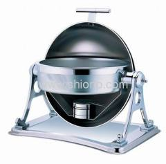 Round chafing dishes with T handle