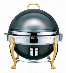 Stainless Steel Round Roll Top Chafing Dish