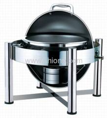 Mini round roll top chafing dish